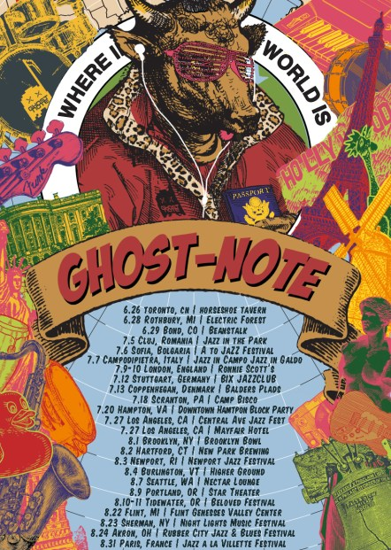 Ghost-note, ghost-note world tour