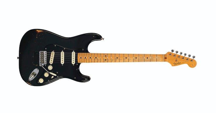 david gilmour, david gilmour pink floyd, david gilmour guitars, david gilmour black stratocaster, david gilmour fender strat, david gilmour auction