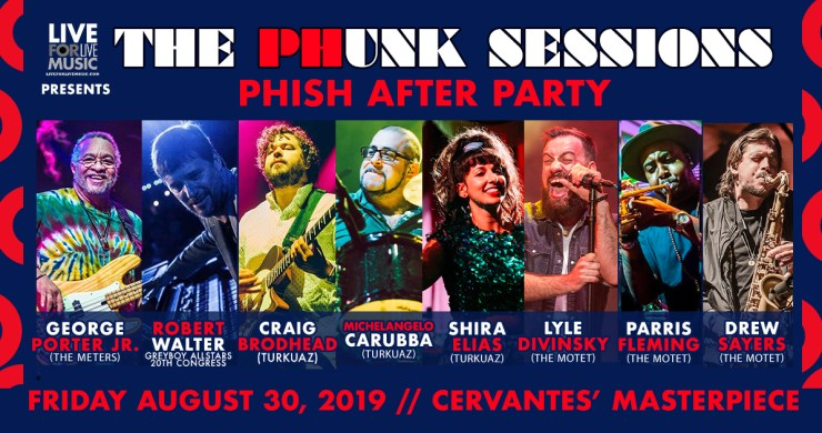 phish dick's afterparty, the funk sessions, the phunk sessions, phish dick's late night, phish dick's afterparty, phunk sessions cervantes, phunk sessions denver, phish late-night, george porter jr, robert walter, turkuaz, motet
