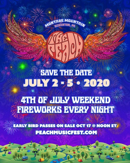 Phish Festival 2020.The Peach Music Festival To Take Place Over July 4th Weekend