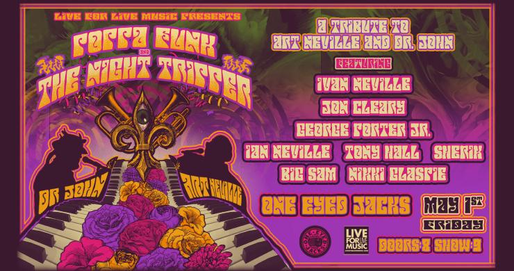 Poppa Funk Night Tripper, Art Neville, Art NEville meteres, art neville brothers, art neville dr. john, dr. john tribute, jazz fest late night, new orleans jazz fest, jazz fest grids