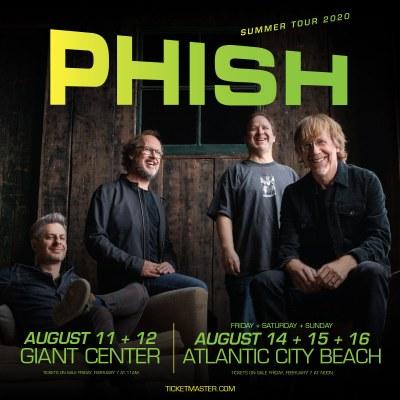 phish, phish atlantic city, phish hershey pa, phish summer tour