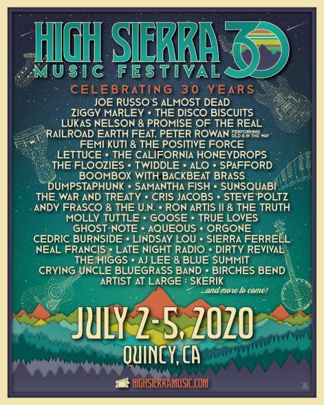 high sierra, high sierra music festival, high sierra lineup, high sierra tickets, high sierra 2020, high sierra ziggy marley, high sierra disco biscuits