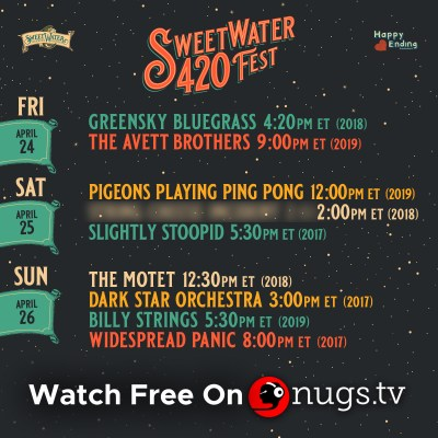 sweetwater 420, sweetwater 420 livestreams, sweetwater 420 festival, sweetwater 420 streams