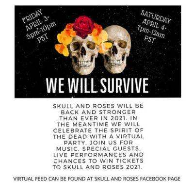 skull & roses virtual beach party weekend