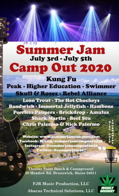 summer jam campout, summer jam campout maine, maine music festival, music festival 2020, summer jam campout tickets, summer jam campout kung fu, live music 2020