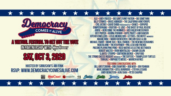 democracy comes alive lineup, democracy comes alive schedule