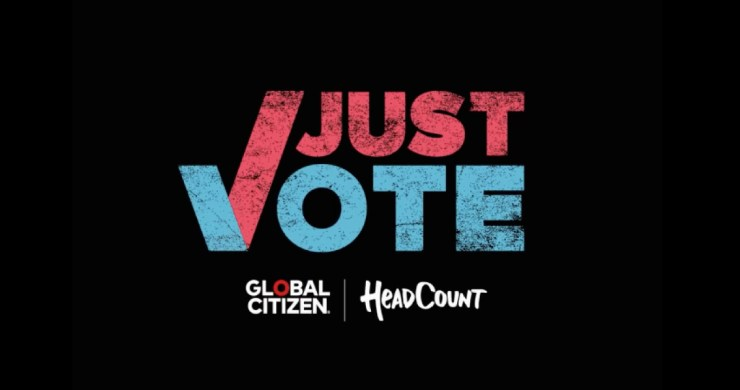 headcount global citizen, headcount just vote, global citizen just vote, register to vote, check voter registration status, billie eilish headcount, taylor swift headcount, dj khaled headcount