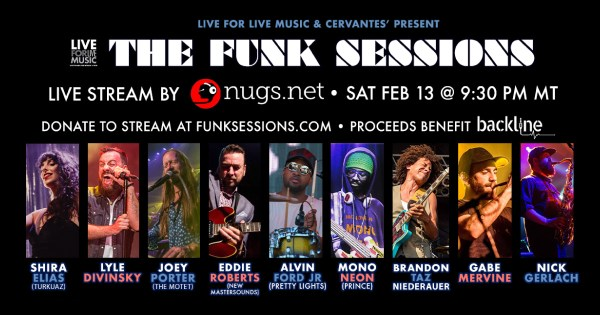 the funk sessions, funk sessions livestream, the funk sessions livestream, mononeon livestream, taz livestream, eddie roberts livestream, cervantes livestream