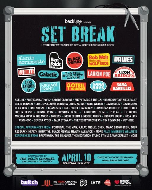 backline set break, set break livestream, backline livestream