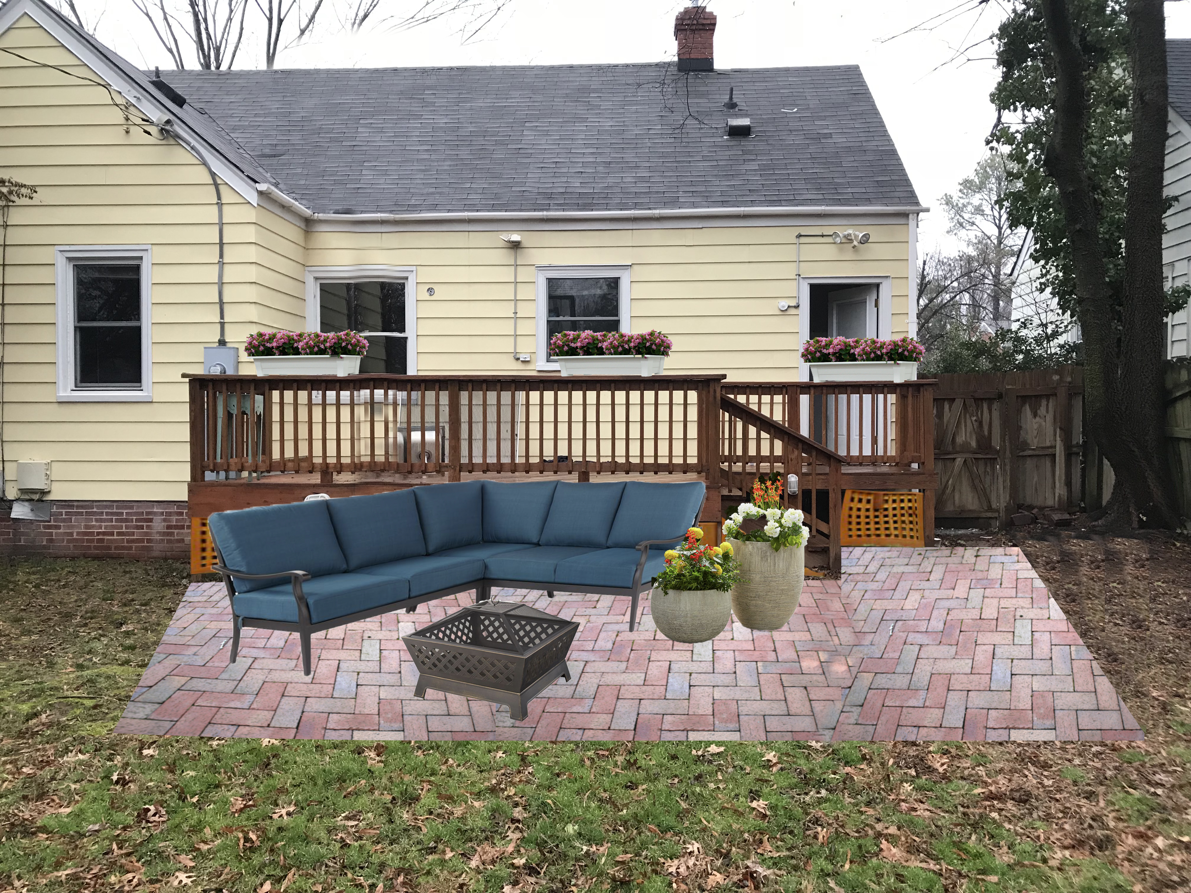 Adding a DIY Paver Patio to the Backyard - Live Free ... on Add On Patio Ideas  id=66921