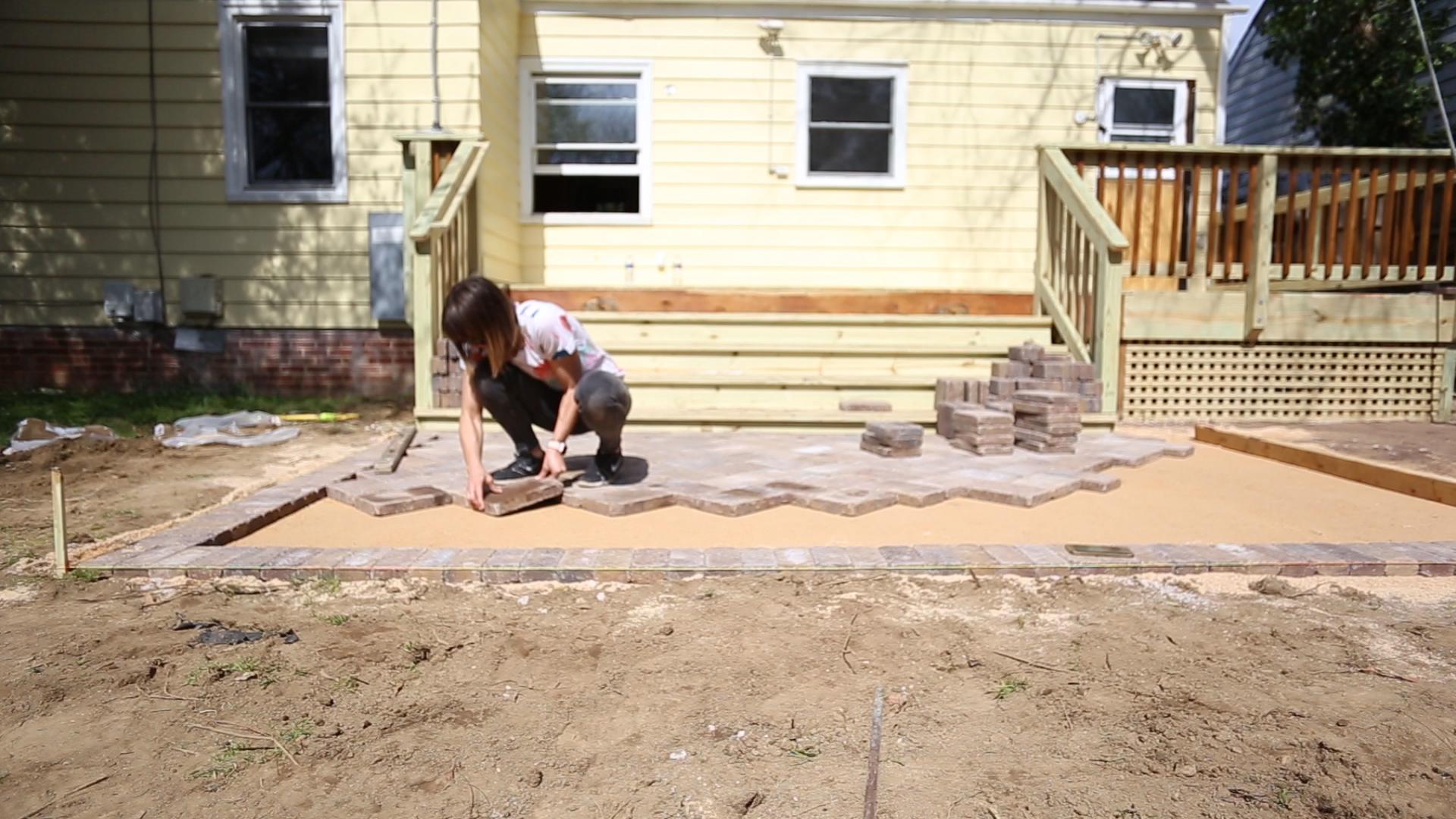 diy paver patio to the backyard