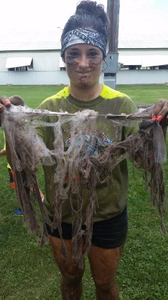 This was my angel skirt after the run!