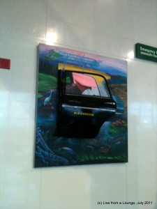 Mumbai Taxi on the Mumbai Airport wall