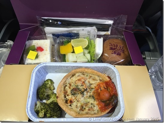 Economy Class Meals, served in a Box. Western meals, a first for India