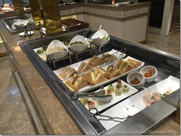Buffet, GVK Lounge, First Class