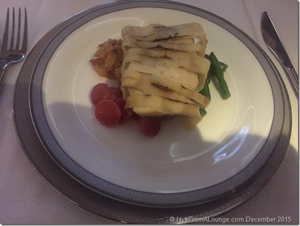 SQ Suites: Pan-fried Seabass, wrapped in Potato