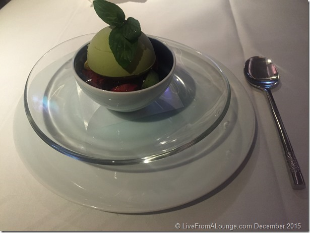 SQ Suites: White Peach Parfait Dessert