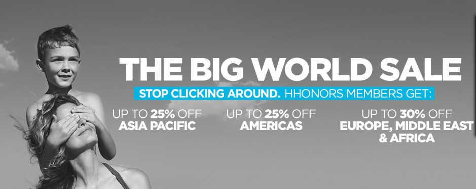 Hilton Big World Sale