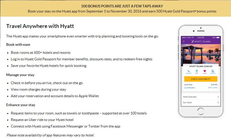 Hyatt Mobile App