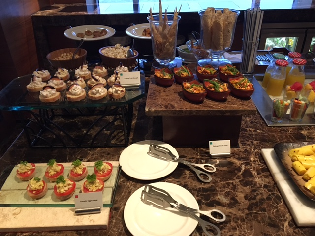 Lounge spread @ Hyatt Regency Ahmedabad
