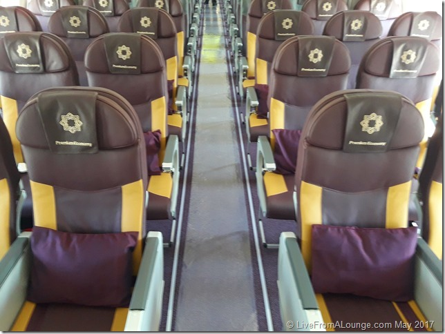 The New Premium Economy, with newer seats and better headrests