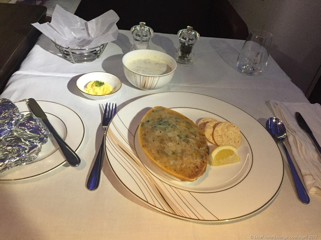 Jet Airways First Class Dining