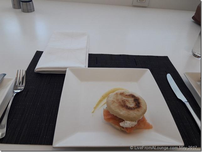 Etihad Lounge Paris Breakfast