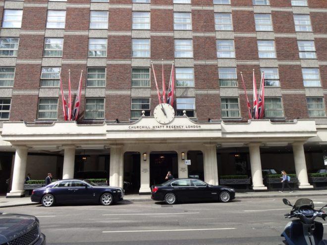 Exterior view of the Churchill Hyatt Regency London