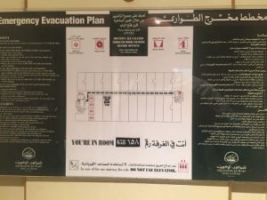 Emergency Evacuation Plan at Sheraton Kuwait