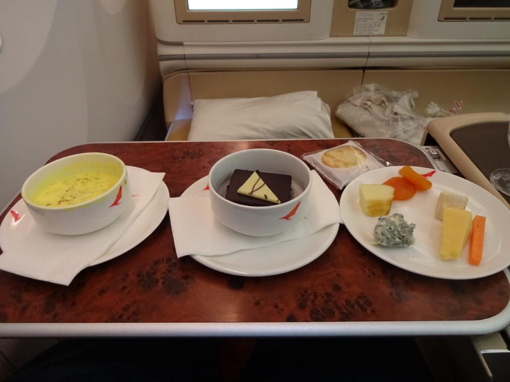 Air India Business Class Dessert Service