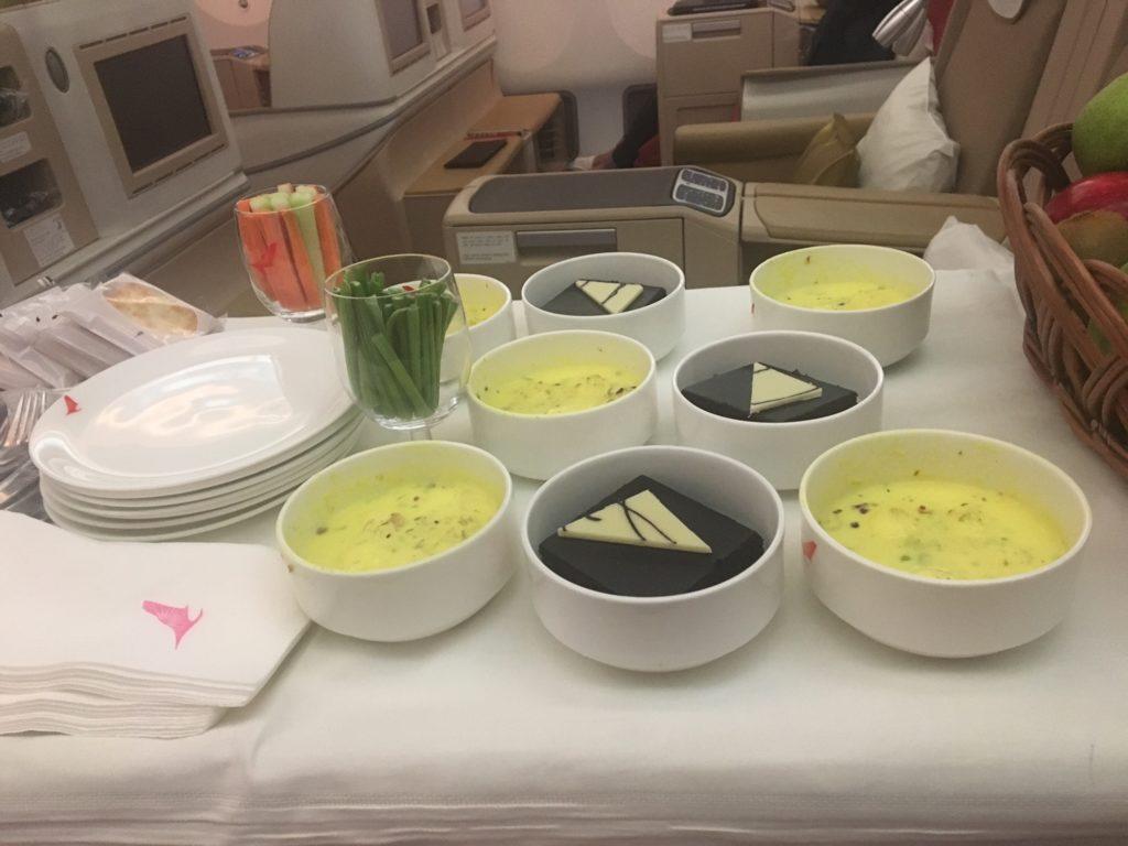 Air India Business Class Dessert Cart