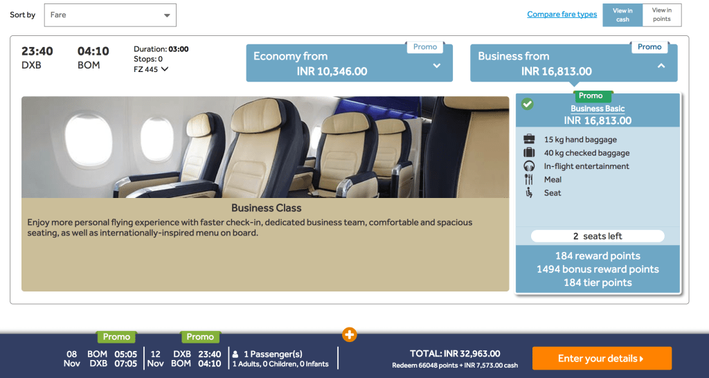 Business Class FlyDubai near dates