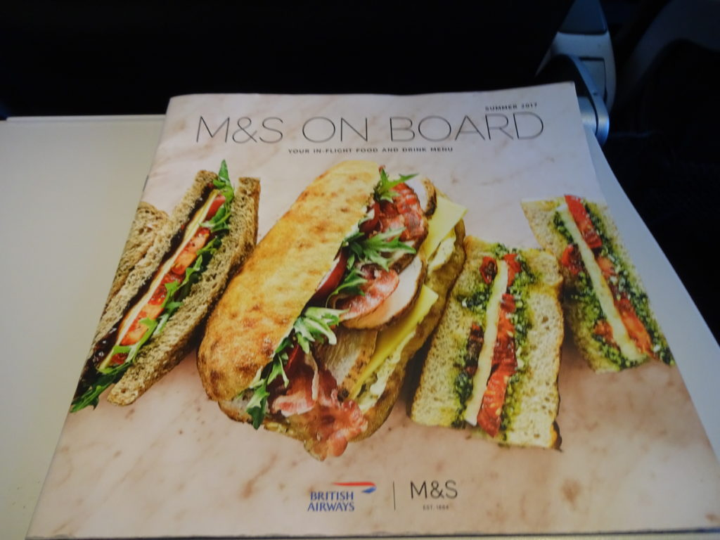 British Airways Buy on Board Menu