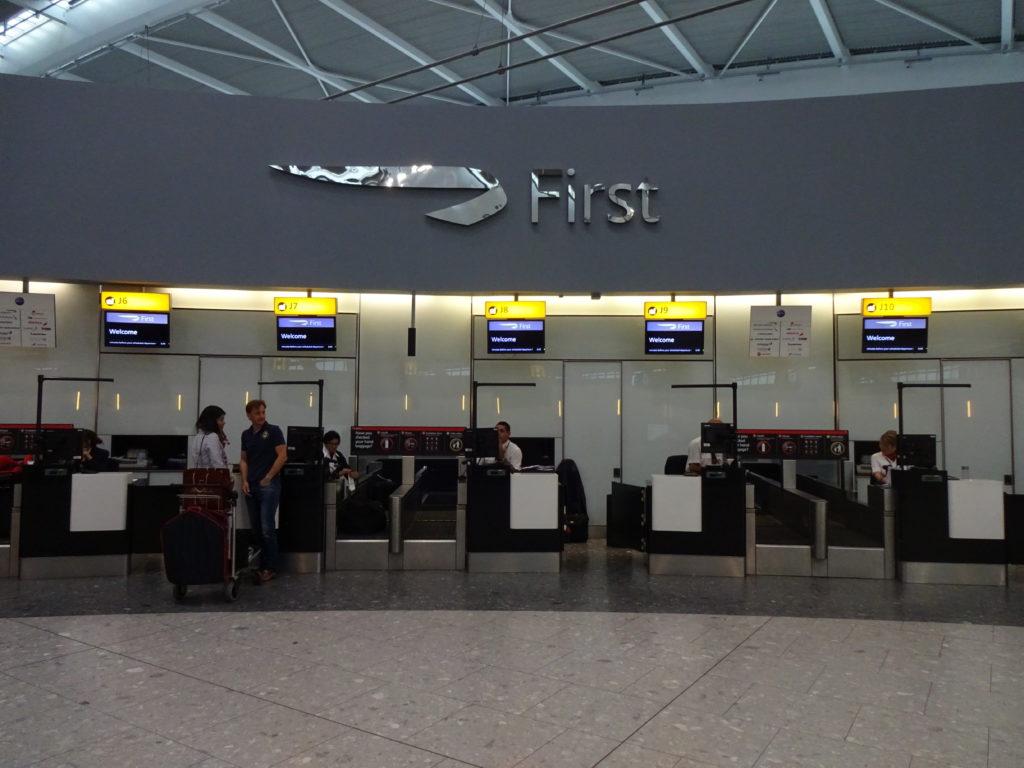 British Airways First Check-in
