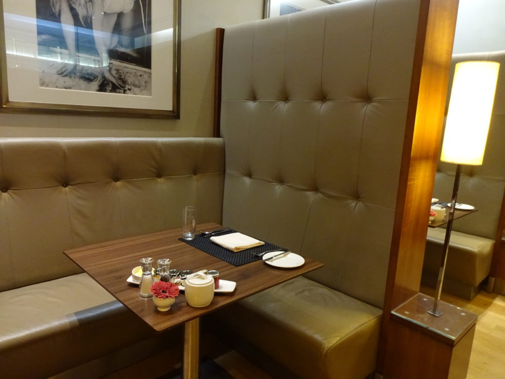 British Airways Concorde Room Dining Booths