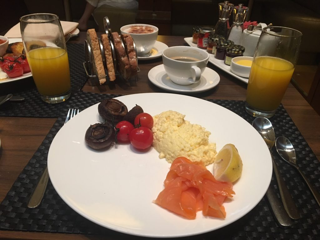 British Airways Concorde Room Smoked Salmon with Scrambled Eggs