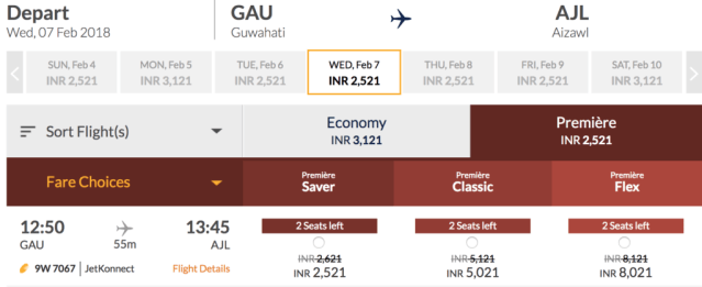 Jet Airways Business Class Prices
