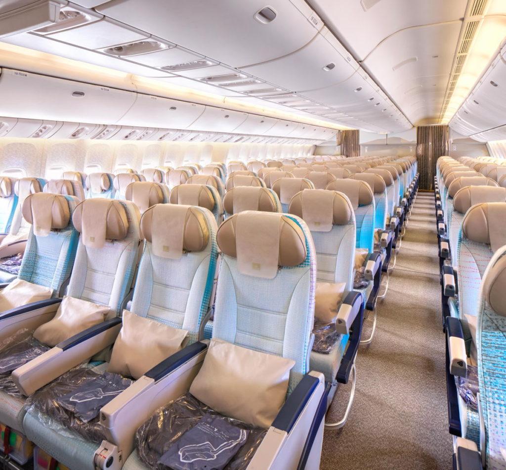 Emirates 777LR Economy Class