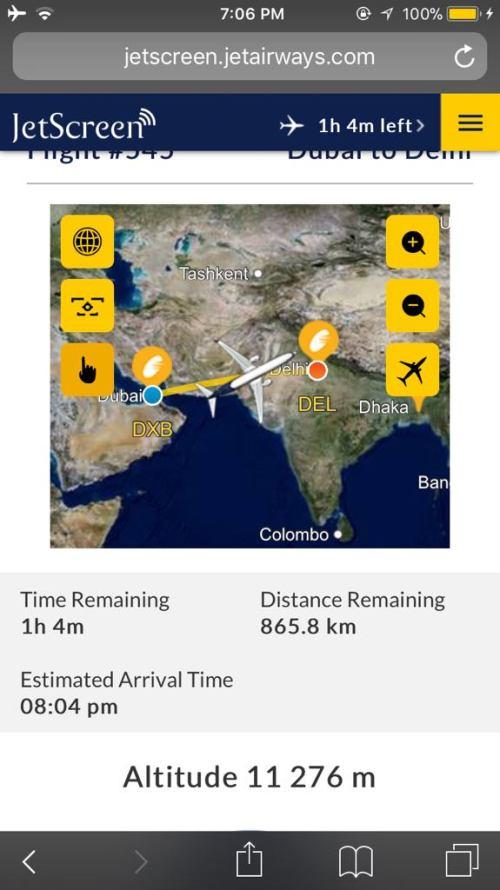 Jet Airway Flight Review Dubai Delhi