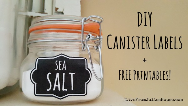 DIY Canister Labels + FREE Printables