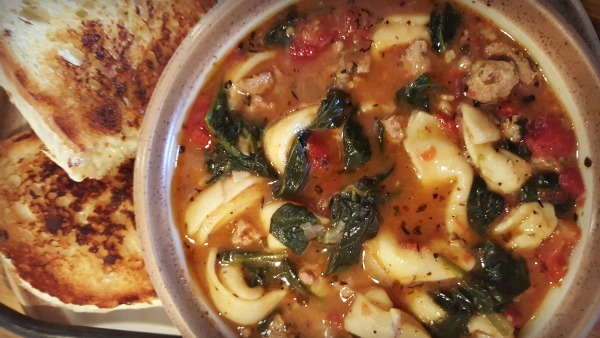 Spinach, Tortellini & Turkey Sausage Soup