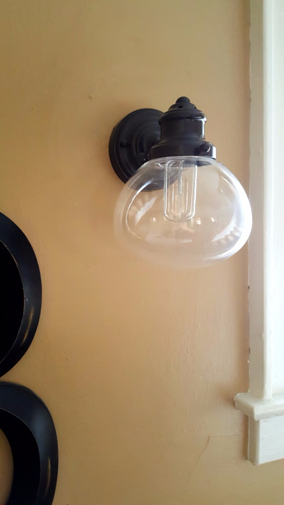 Vintage looking sconce from Lowe's