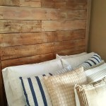 giant pallet headboard with lights