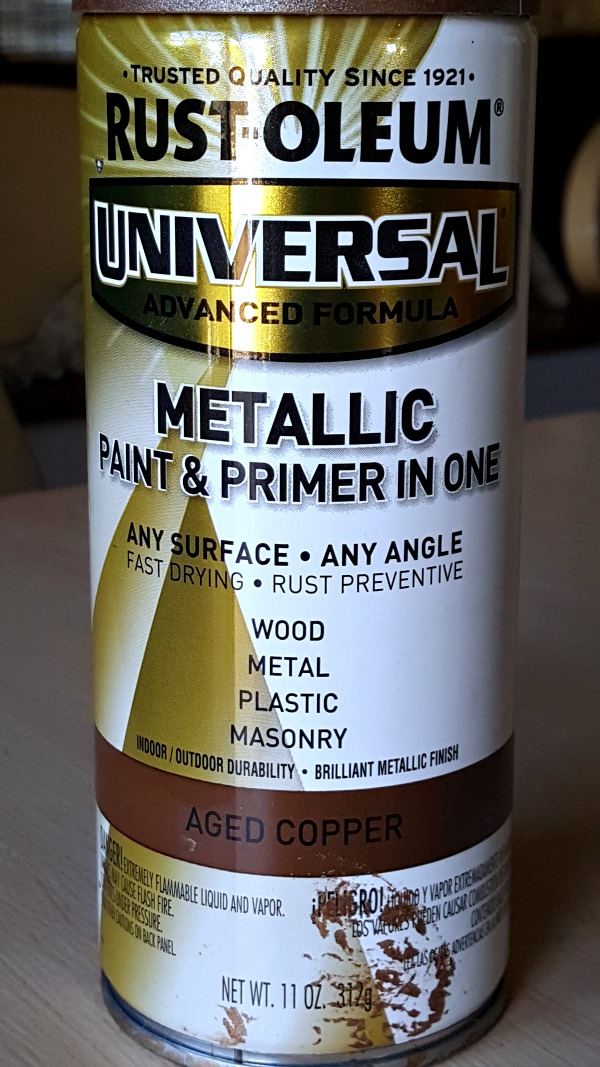 Rustoleum Weathered copper spray paint