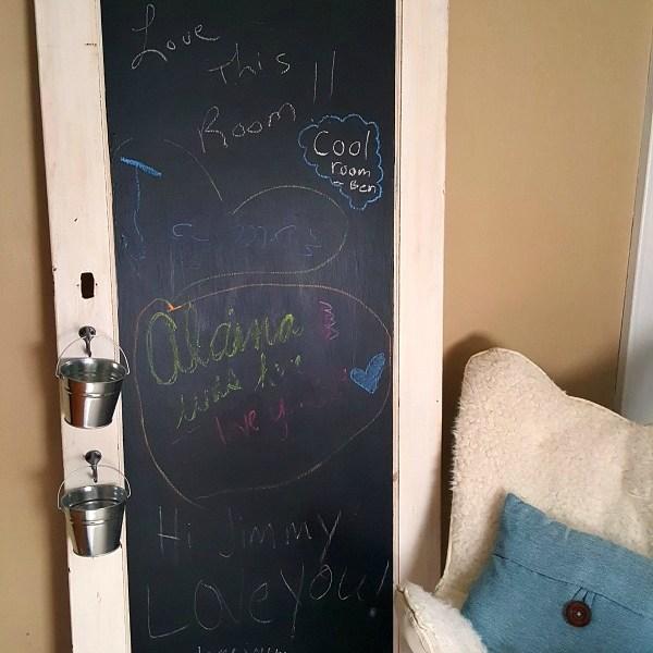 Guest Bedroom Old Door Chalkboard