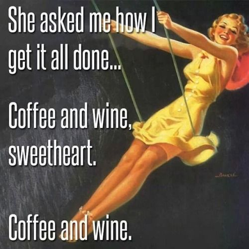 Coffee and wine meme