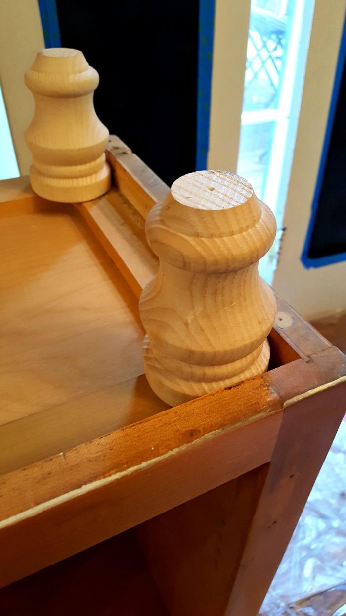 Wooden furniture feet
