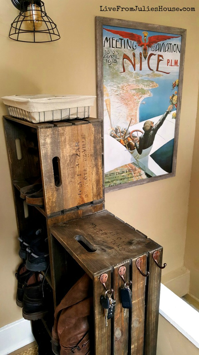 DIY Crate Shoe rack