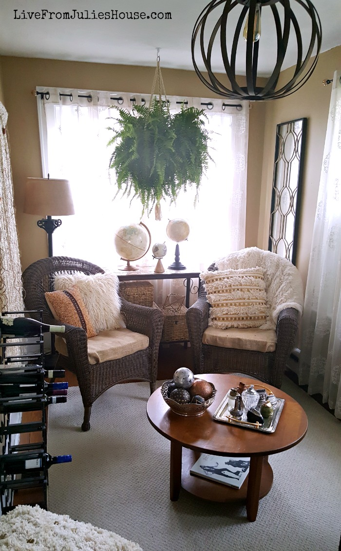 Boho Chic Sunroom   Find Out How I Transformed An Awkward Little Room In My  House